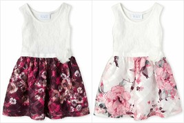 NWT The Childrens Place Girls Sleeveless Lace Floral Dress 2T 3T 4T 5T - $10.99