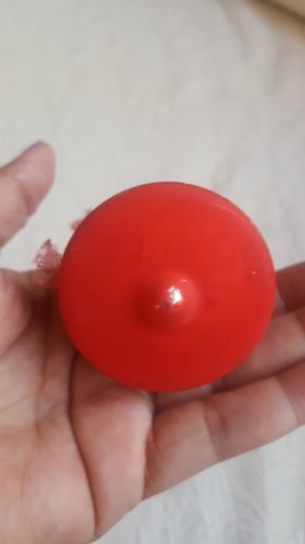 Vintage Red Bell Design  Blown Glass Christmas Ornament West Germany pre-owned
