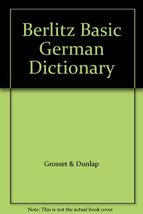 Berlitz Basic German Dictionary [Paperback] Berlitz - $2.66