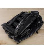 """Wilson 2092 LHT Leather Glove Black Premium Cowhide 12"""" Deer Tan Lining ... - $29.99"""