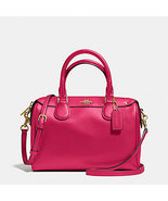 Coach Mini Bennett In Crossgrain Leather F 36677 57521 gold bright pink ... - $159.46 CAD