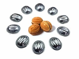Metal Mold Form Nuts For Sweet Russian Nuts Oreshki Pastry (Set of 40 pcs) - $20.93