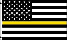 THIN YELLOW LINE law enforcement 3 X 5 FLAG FL746 banner wall hanging ne... - $6.27