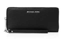 $168 NWT Michael Kos BEDFORD Travel Continental Gold FTR Leather Black W... - $119.99