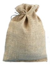 Set of 6 Burlap Bags Drawstring 10 x 14 Gift Bag Wedding Christmas Home ... - $12.34