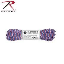 Rothco Nylon Paracord 100', Red/White/Blue Camo - $9.89