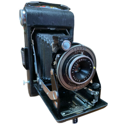 Primary image for Kodak Uses 620 film Junior camera with leather case- USA made