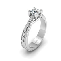 Cushion Cut Solitaire Diamond Bridal Wedding Ring Women Anniversary Gift For Her - $1,159.99