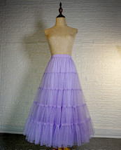 Princess Long Tulle Skirt Outfit Tiered Sparkle Tulle Skirt High Waist Plus Size image 3