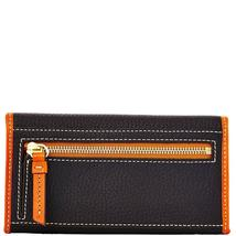 Dooney & Bourke Black Pebble Leather Continental Clutch Wallet image 2