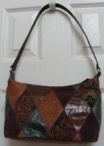 "Fossil ""Coronado"" Womens Handbag Genuine Leather Patchwork Hobo Multi Color New - $149.90"