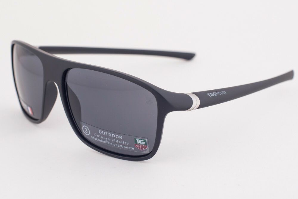 Primary image for Tag Heuer 27 Degree 6041 Matte Black / Gray Polyvalent Sunglasses TH6041 101