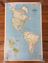 Vintage 1979 National Geographic North South Americas Political Physical... - $39.99