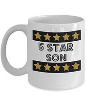 5 Star Son - Novelty 11oz White Ceramic Son Mug - Perfect Anniversary, B... - $14.84