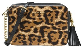 NEW Michael Kors Ginny Shoulder/Crossbody Bag in Leopard  Fur Real HAIRCALF - $159.87
