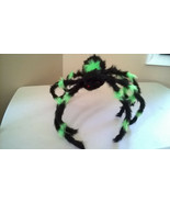 "Halloween Medium 22""+ Black and Green Furry Spider Poseable & Bendable Legs - $11.99"