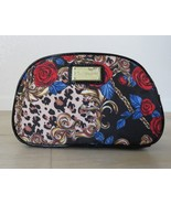 Betsey Johnson Red Roses Makeup Cosmetics Travel Bag Loaf 6 x 9.5 x 3 Zi... - $47.46