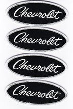 4 Chevrolet Script SEW/IRON On Patch Emblem Badge Embroidered - $12.99