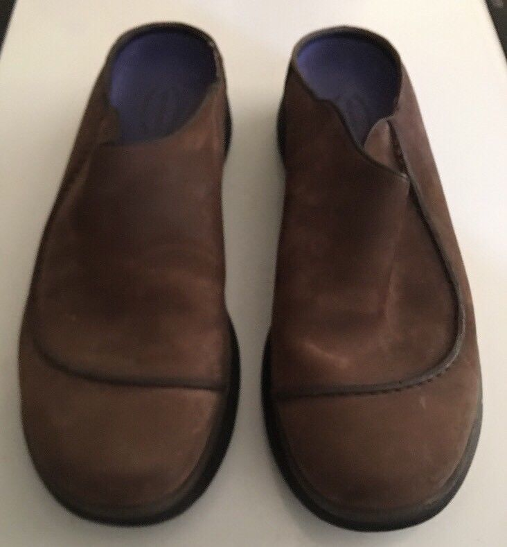 Mens MERRELL Brown Topo Wave Slide Suede Slip on Mocs Clogs Shoes sz 11 M image 3