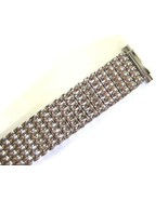 SPEIDEL 10-14MM EXTRA LONG SILVER STAINLESS STEEL EXPANSION WATCH BAND S... - $19.79
