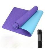 GISALA TPE Yoga Mat Fitness Gymnastic Training, Easy-Care Exercise Indoo... - $19.75