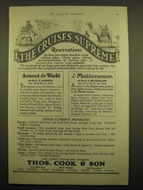1924 Thos. Cook & Son Cruise Ad - The cruises supreme - $14.99