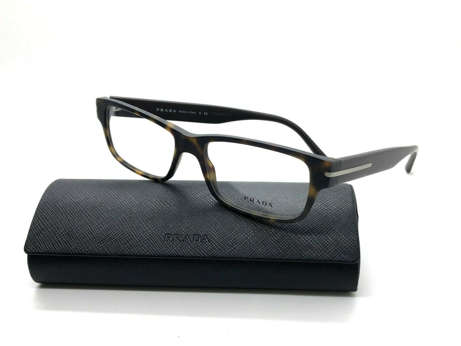 6d9387593 Authentic PRADA VPR 22R HAQ-1O1 Matte Tortoise/Brown 54mm RX Eyeglasses -  $106.67
