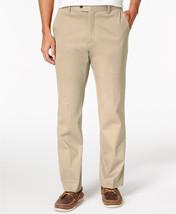 New Tasso Elba Big Tall Signature Chino Flat Front Beige Khaki Pants 40T - $22.99