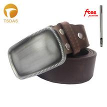 DIY Rectangle Metal Belt Buckles with Leather Belt for 40mm Belt Buckle - $13.00