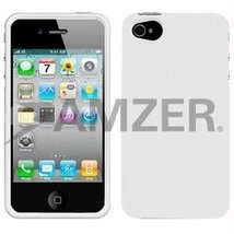 Amzer Injecto Snap On Hard Case for iPhone 4 4S - White - $11.83