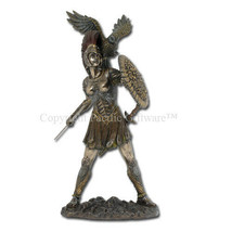 Athena (Minerva) & Owl Greek Roman Goddess of Wisdom Statue, Real Bronze Powder - $47.51