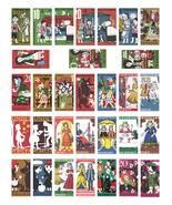 "vintage fairytale domino collage sheet 1""x2"" clipart digital download pr... - $2.99"