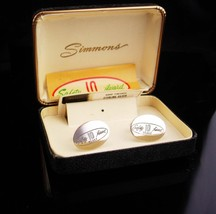 Vintage Safety Award Cufflinks Industrial 10 Years Sterling Silver Simmo... - $125.00