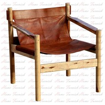Handmade Wanderloot Genoa Solid Sheesham and Leather Sling Chair - $399.00