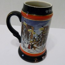 Budweiser A Perfect Christmas Holiday Stein Anheuser Busch Susan Sampson... - $14.80