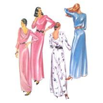 Vtg Butterick 3482 Misses Maxi Evening Dress 3/4 Sleeve Scoop Cowl Neck ... - $6.95