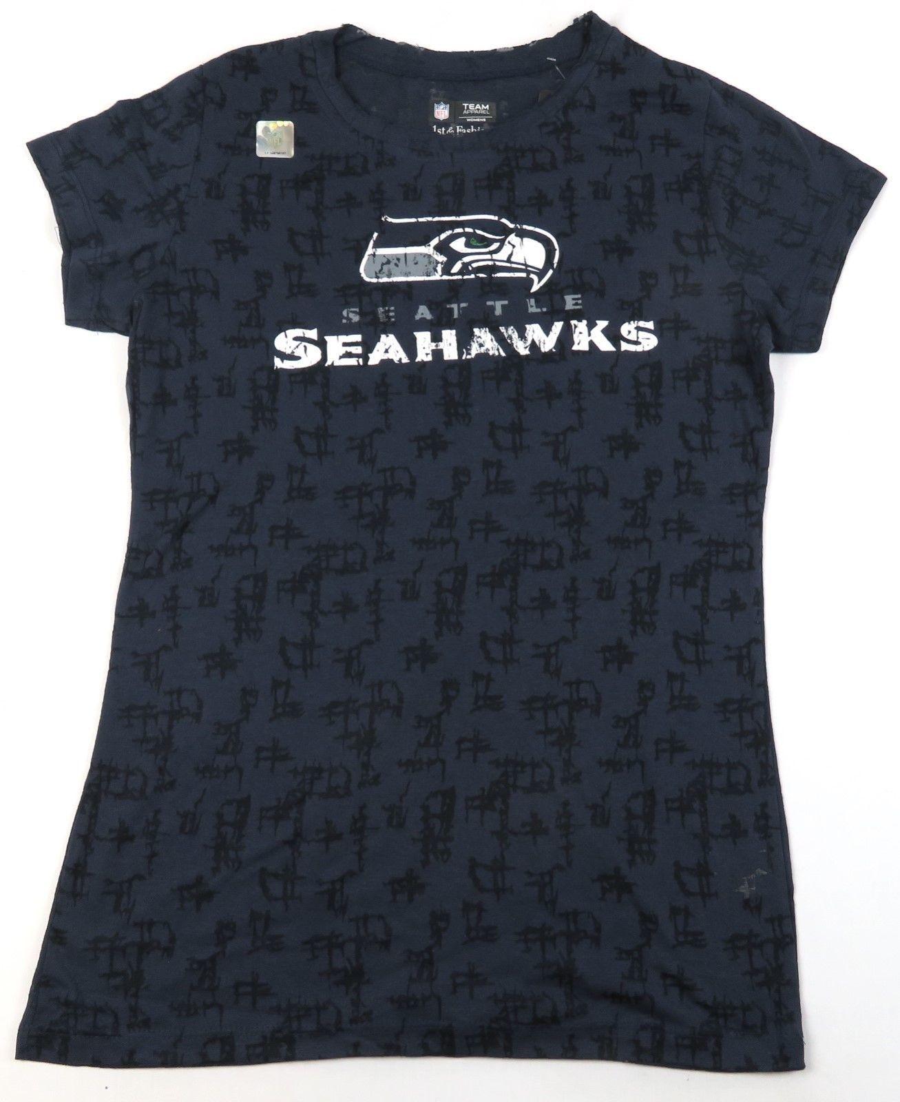 Women's Size Large Seattle Seahawks Slub Tee Shirt NFL Vintage Football T-Shirt