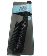 Conair Roll & Smooth Comb Black Purple Detangles Easy-Roll Gentle Haircare - $7.69