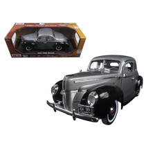 1940 Ford Deluxe Grey with Black Timeless Classics 1/18 Diecast Model Ca... - $57.48