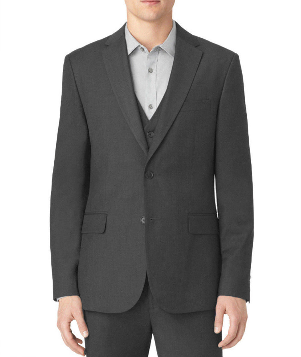 NEW MENS CALVIN KLEIN GRANITE HEATHER BLAZER JACKET SPORT COAT S