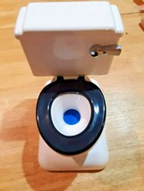 Novelty Coin Toilet Bank by FUN-DAMENTAL TOO LTD 1994 Real Flushing Sounds! - $14.84