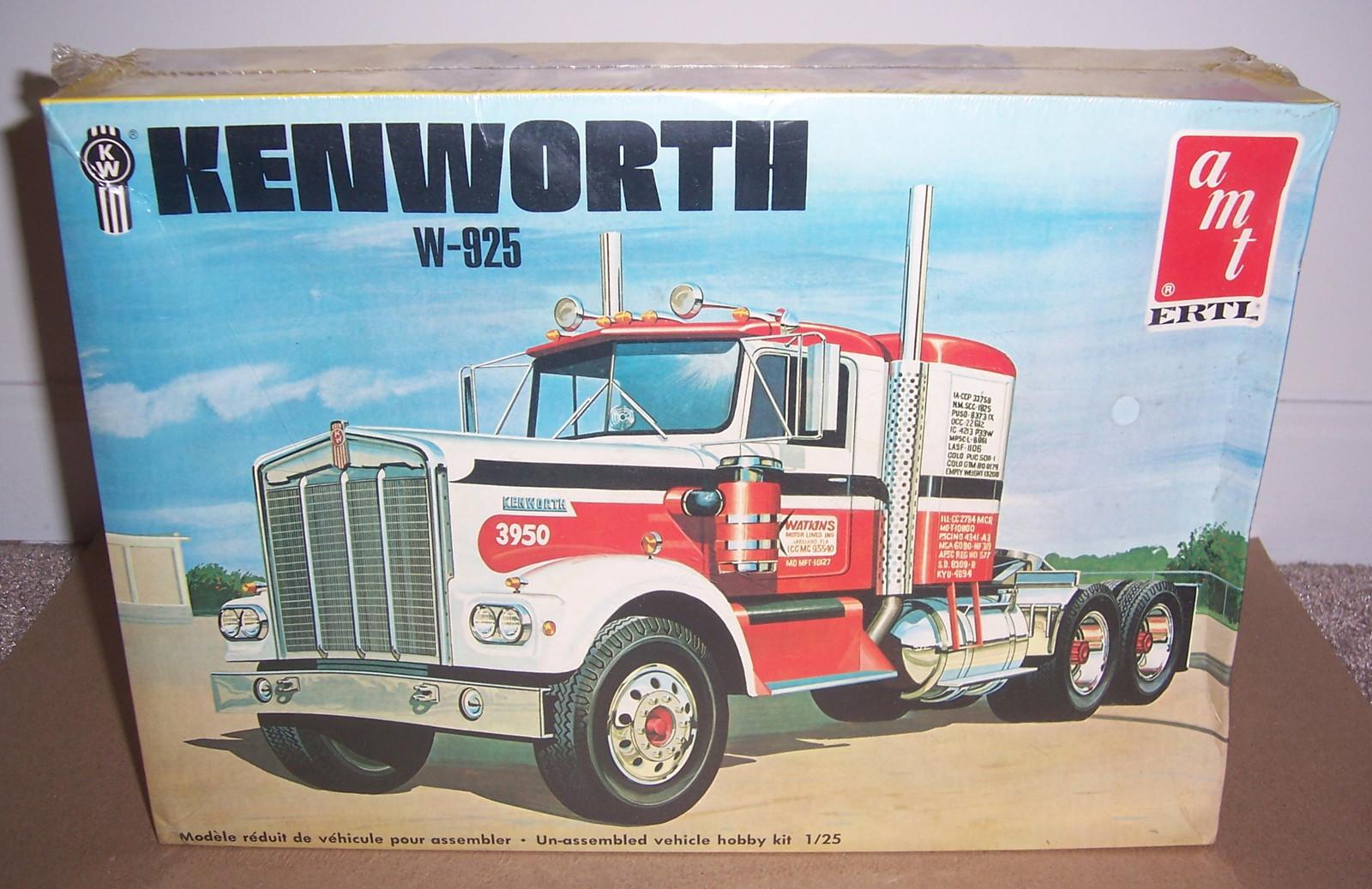 Vintage AMT/Ertl 1:25 Watkins Kenworth Conventional W-925 FACTORY SEALED Kit - $89.99