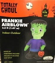 Totally Ghoul Airblown Frankie Frankenstein Friendly Gemmy Halloween Yar... - $36.35