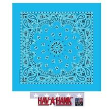 *USA MADE Hav-A-Hank LIGHT BLUE Bandana PAISLEY BANDANNA SCARF Scarve He... - $5.99