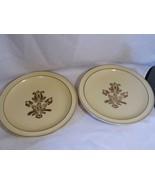 "set of 2 ~ vintage PFALTZGRAFF tan brown pottery VILLAGE 10"" DINNER  PLATES - $8.99"