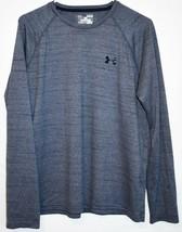 Under Armour Men's Heathered Blue Loose HeatGeart Long Sleeve Athletic Shirt M