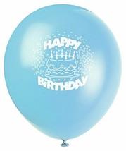 "Baby Blue Birthday Cake 8 Ct Latex 12"" Balloons - $3.26"