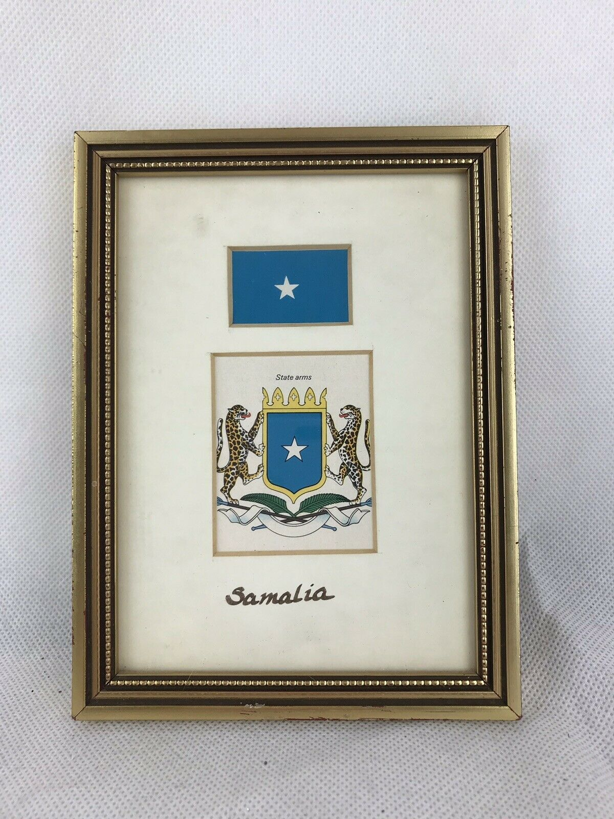 "Primary image for Somalia Flag State Arms Frame 7""x5"""