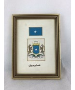 "Somalia Flag State Arms Frame 7""x5"" - $14.03"