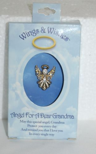DM Merchandising Wings Wishes Dear Grandma Angel WGWGM